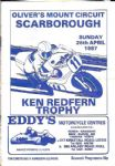 KEN REDFERN TROPHY - OLIVER'S MOUNT CIRCUIT - OFFICAL PROGRAMME 1987 - B112